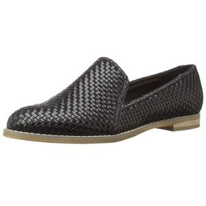 Indigo Rd. | Black Woven Faux Leather Loafer | 8.5